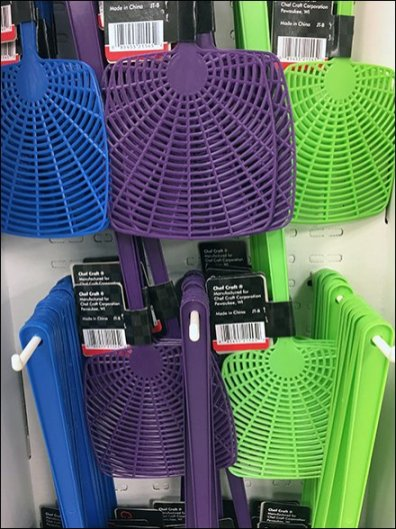Decorator Color Flyswatter In-Aisle Display