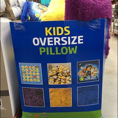 Kids Oversize Pillow Bulk Bin Merchandising