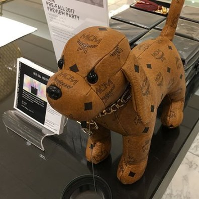 MCM Pre-Fall Preview Party Puppy Dog Mascot Square1