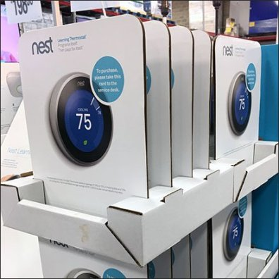 Nest Thermostat Pick Card Pallet Display
