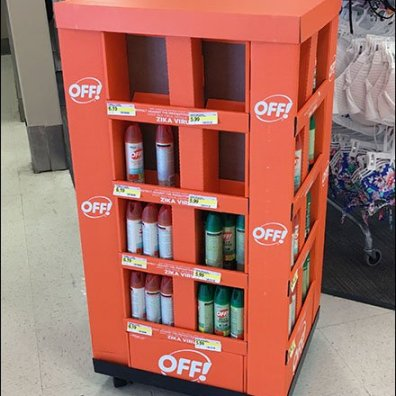 Half-Height Mobile Display for Off Repellant