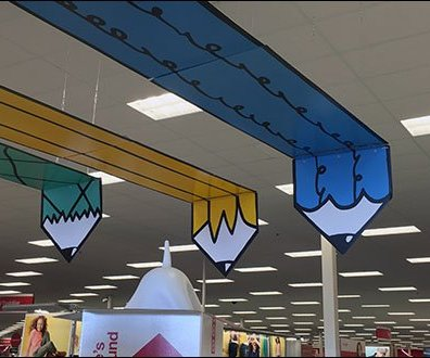Overhead Back-To-School Pencil Display 3