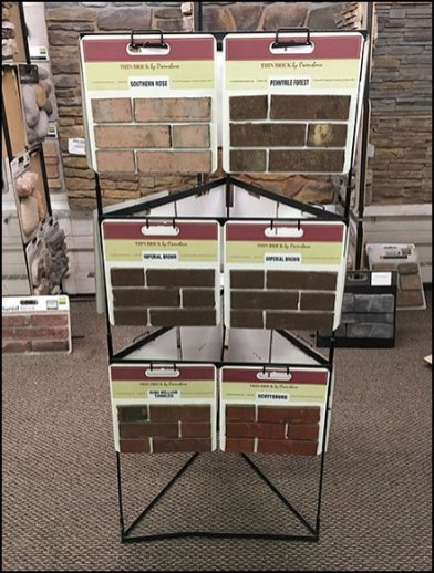 Owensboro Stone Triangular Tower Sample Rack