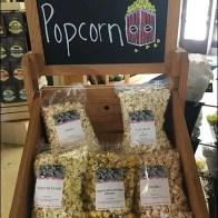 Rustic Display Of Pasta and Popcorn