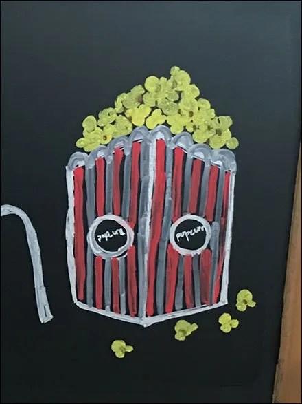 Popcorn Store Fixtures - Rustic Display Of Pasta and Popcorn