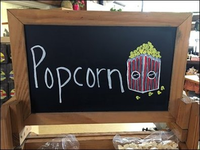 Rustic Display Of Pasta and Popcorn