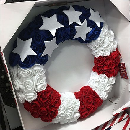 Patriotic Seasonal Wreath Merchandising