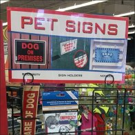 Pet Sign Open Wire PowerWing Outfitting