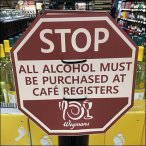Stop Sign Redirect To Registers In Cafe