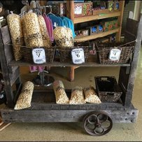 Vintage Grocery Stocking Cart As Display