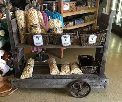 Vintage Grocery Stocking Cart As Display