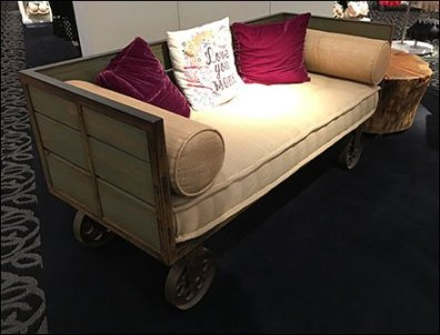 Vintage Transport Cart As Retail Amenity