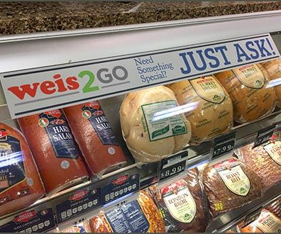 Weis2Go Deli Case Cooler Promotions