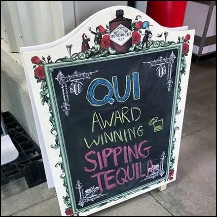 Award-Winning Sipping Tequila Chalkboard Offer