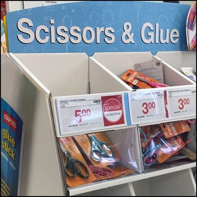 Back-To-School Glue Merchandising Feature