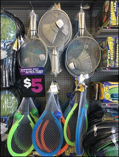 Tennis and Badmiten Rackets Hooked