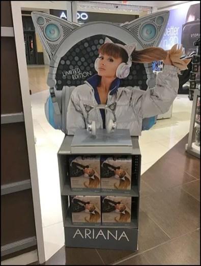 Brookstone Ariana Cat Ear Bluetooth Headphones 3