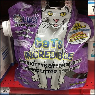 Cats Incredible Kitty Litter Pouch Merchandising