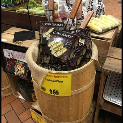 Corn Grilling Basket Rustic Barrel Merchandising
