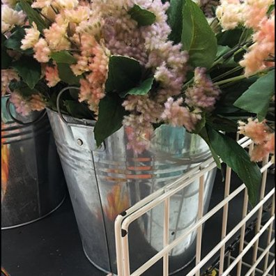 Fall Floral Galvanized Bucket Merchandising