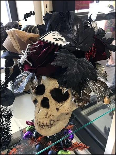 Halloween Fashion Skulls Retail Props