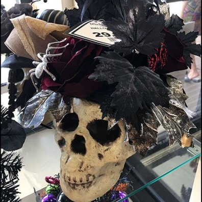 Halloween Fashion Skulls Retail Props