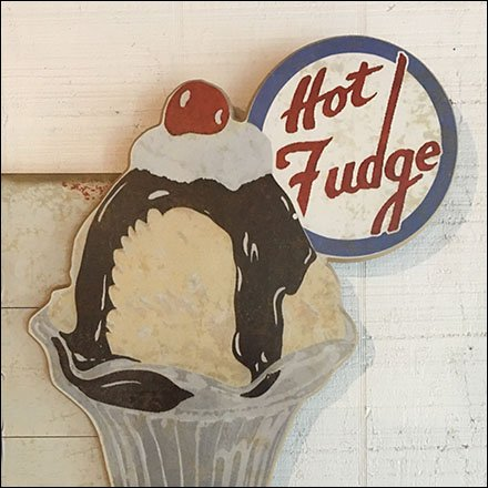 Ice Cream Merchandising and Store Fixtures - Ice Cream Parlor Hot Fudge Sundae Sign