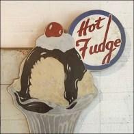 Ice Cream Parlor Hot Fudge Sundae Sign