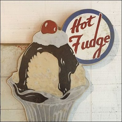 Ice Cream Parlor Hot Fudge Sundae Sign