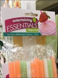 Milkshake Shelf-Edge Straw Strip Merchandiser