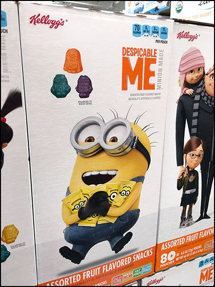 Minion-Made Snacks Pallet Merchandising