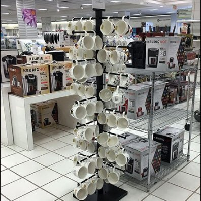 Freestanding Mug and Cup Tree Tower