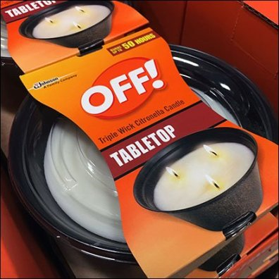 Triple-Wick Tabletop Branded Citronella Display