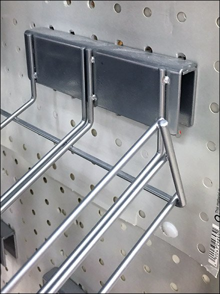Double-Duty Backplate for Pegboard and Bar