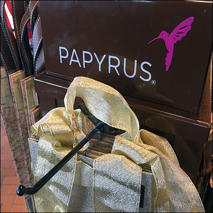 Papyrus Wine Bottle Gift Bag Tower Feature