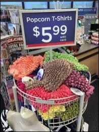 Popcorn T-Shirt Merchandising Tower