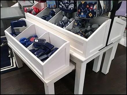 Mated-Pair Trestle Table Bins Display