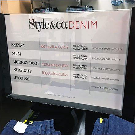 Style & Co Denim Fit Chart