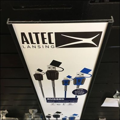 Slot-Mount Vertical C-Channel Sign by Altec