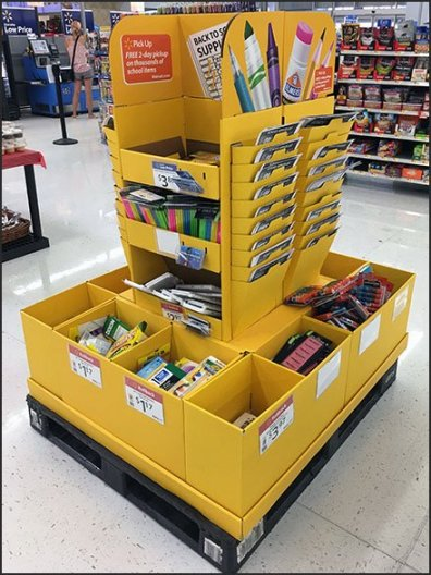 Back-To-School List Bulk Bin Tower