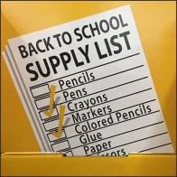 Back-To-School List Bulk Bin Tower