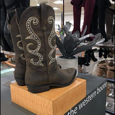 Cactus Branded Western Boot Display