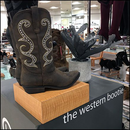 Cactus Branded Western Boot Display