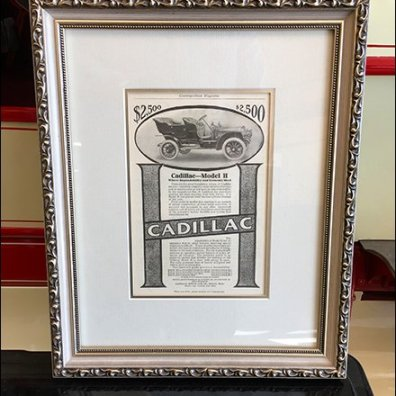 Vintage Cadillac Advertising Poster At Motorworld Group