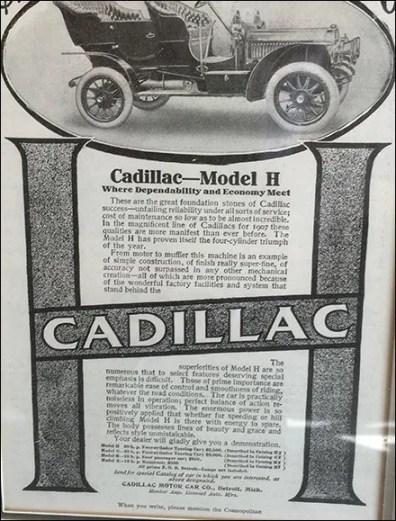 Cadillac Brand Vintage Advertising Framed 3