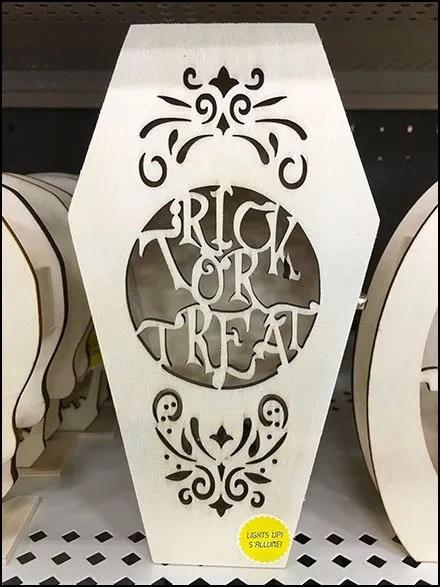 Coffin Shelf-Edge Merchandising For Halloween