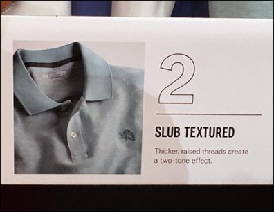 Polo Shirt Shelf-Edge Style Definitions Sign