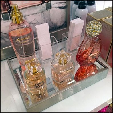 True Amaze and Blush Fragrance Tester Display