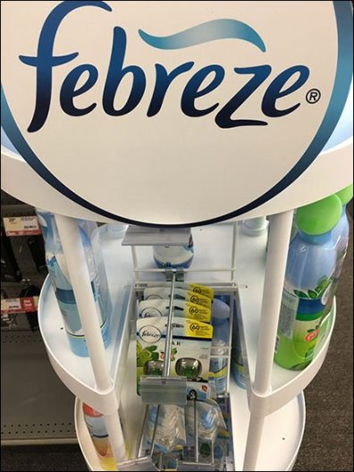 Febreze For Car By Flip Front Grid Hook