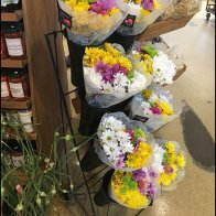 Floral Bouquet Open Wire Rack At Farm Store